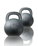 Two kettlebells on white Stock Image