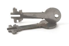 Two keys. Two metal keys on the background Stock Image