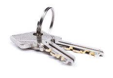 Two keys isolated Stock Photo
