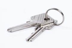 Two keys isolated Royalty Free Stock Photography