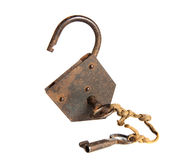 Two keys and a padlock Royalty Free Stock Photo