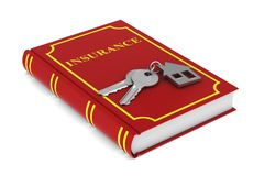 Two keys and trinket house and red book on white background. iso Royalty Free Stock Images