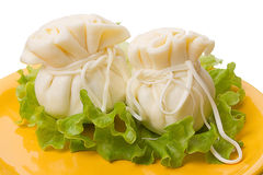 Two Khinkali cheese Royalty Free Stock Image