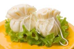 Two Khinkali cheese Royalty Free Stock Image