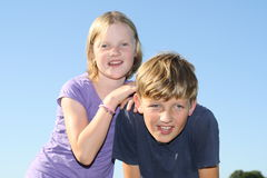 Two kids Royalty Free Stock Photo