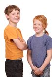 Two kids stock image