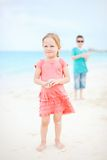 Two kids at beach Stock Photo