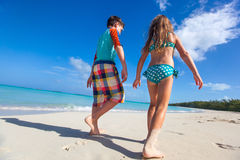 Two kids at beach Stock Image