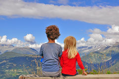 Two kids Royalty Free Stock Images