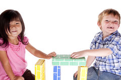 Two kids blocks Royalty Free Stock Photos