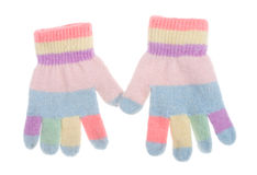 Free Two Kids Gloves Royalty Free Stock Photos - 11898558
