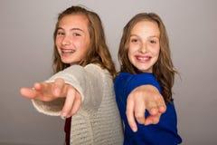 Two kids having fun Royalty Free Stock Images