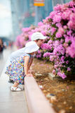 Two kids outdoor in city at summer day Stock Image