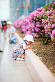 Two kids outdoor at summer day Stock Photography