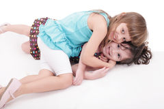 Two kids play together Stock Photo