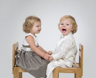 Two kids playing Royalty Free Stock Image