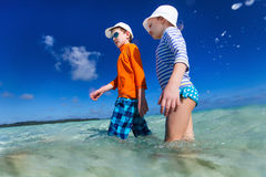 Two kids on vacation Stock Photography