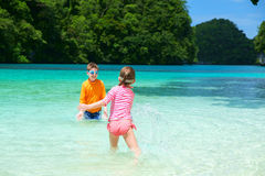 Two kids on vacation Royalty Free Stock Photography