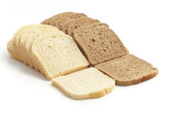 Two kind of toast bread Royalty Free Stock Image
