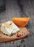 Two kinds of cheese Royalty Free Stock Photography