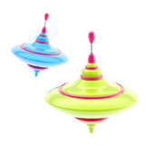 Two kinds of colorful glossy whirligigs isolated royalty free illustration