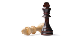 Two king chess pieces with copyspace Stock Photo