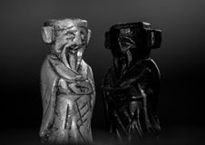 Two king chess pieces stock image