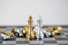 Two King is the victory in this business game. Chess board is the intelligence strategy game to make ideas for business and marketing concept, the success ideas royalty free stock images