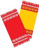Two kitchen decorative serviettes Stock Images