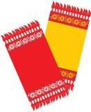 Two kitchen decorative serviettes stock images