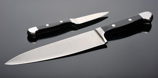 Two kitchen knives Stock Images