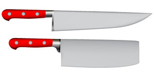 Two kitchen knives Stock Photography