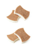 Two kitchen sponges isolated Royalty Free Stock Photo