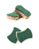 Two kitchen sponges isolated Stock Photos