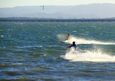 Two Kite Surfers Royalty Free Stock Images