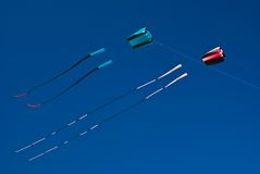 Two Kites flying high (Boy & Girl) Stock Photography