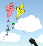Two kites in the sky Stock Image