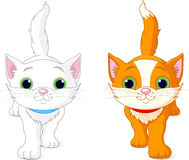 Two kittens vector illustration