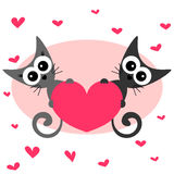 Two kittens in love Royalty Free Stock Photos