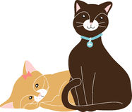 Two Kitties Stock Photo