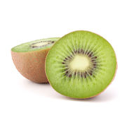 Two kiwi fruit sliced halves Stock Images