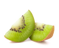 Two kiwi fruit sliced segments Stock Photography