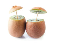 Two Kiwi Fruits Royalty Free Stock Image