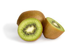 Two  kiwi fruits Stock Photo