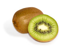 Two  kiwi fruits Stock Images