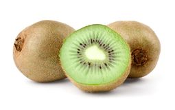Two kiwi and half Royalty Free Stock Photos