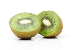 Two kiwi halves Stock Image