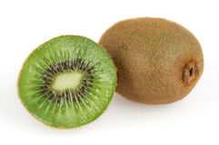 Two kiwi  on white background Stock Image