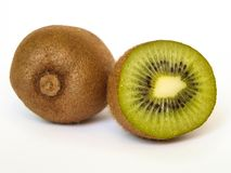 Two kiwi on white background. Stock Image