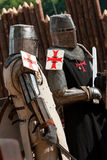 Two knights in armour Royalty Free Stock Photos